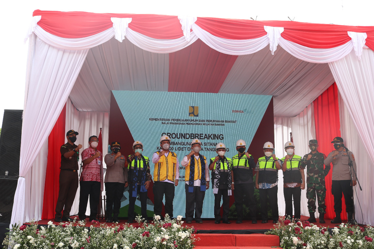 Groundbreaking Pembangunan IPA Sitanala Kap. 500 ldet oleh Kementerian PUPR bersama Walikota Tangerang