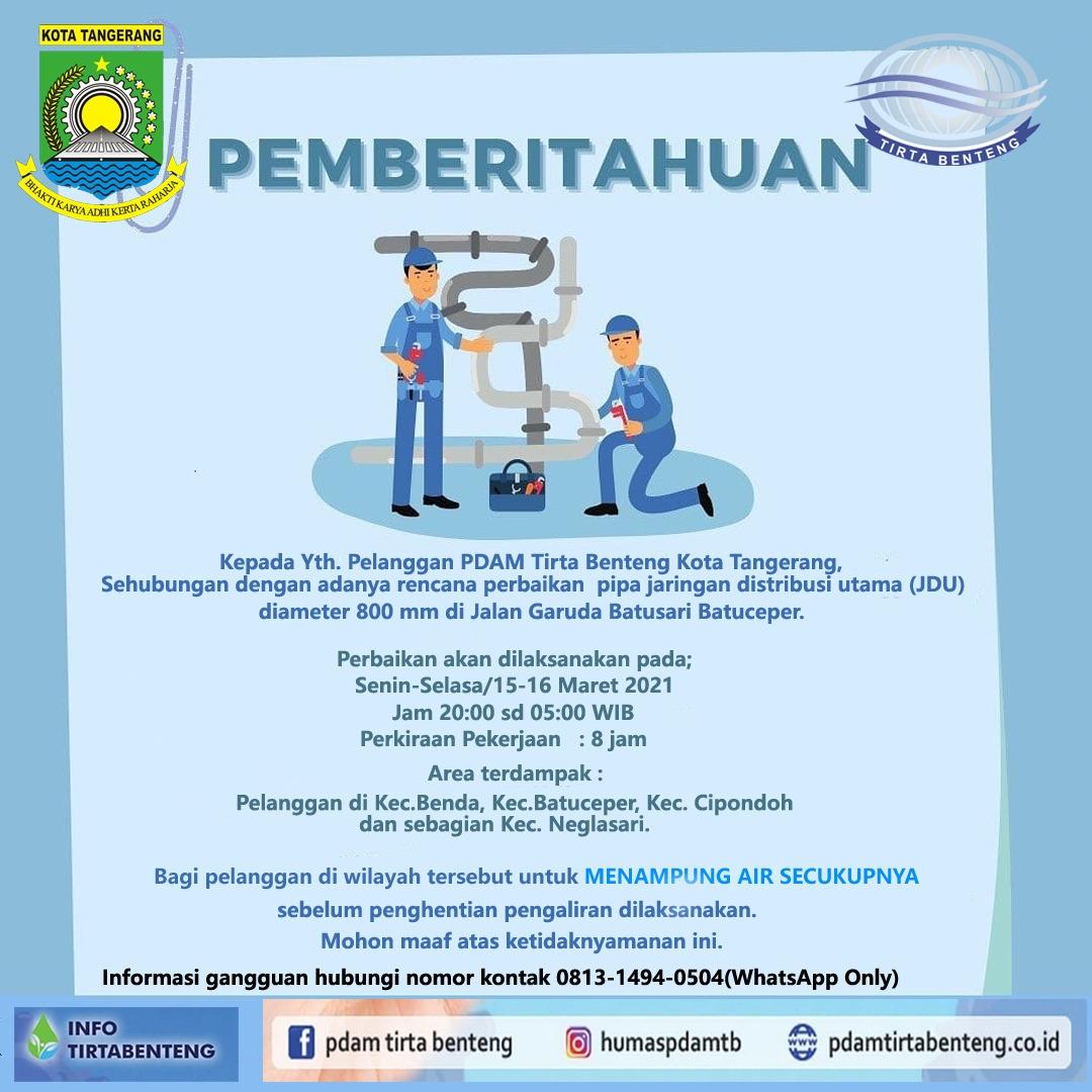 Informasi PDAM TB Kota Tangerang