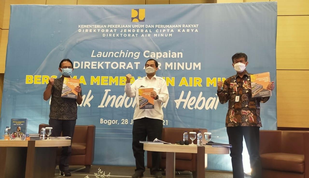 Dirjen Cipta Karya Launching Buku Pencapaian Pembangunan Bidang Air Minum 2020