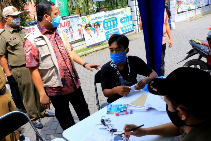 Tidak Patuh Pada Aturan PSBB Pemkot Tangerang Lakukan Tindakan Tegas