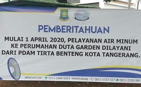 SAH, 2025 Pelanggan Duta Garden dan Basecamp Mulai di Layani PDAM TB Kota Tangerang.